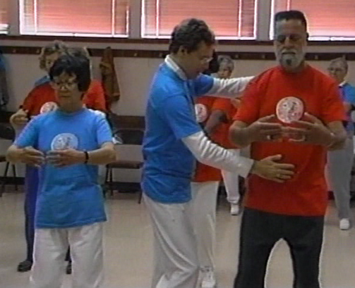 Mark Practicing Taiji in Shangri-la